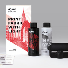 Print Fabric with Light - Red