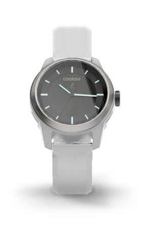 Silver on White COOKOO Watch