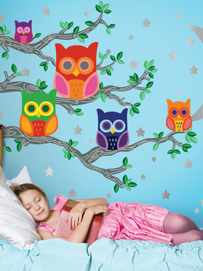Nightly News Owl Wall Decals