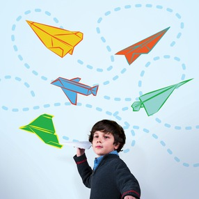 Paper Airplanes Wall Decals