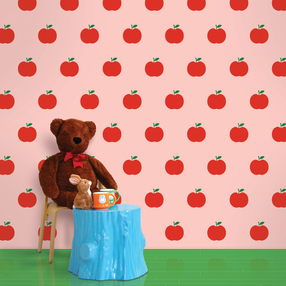 Apple Pink Removable WallPaper