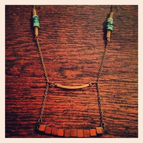 Tiered Wooden Necklace