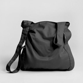 Black Cotton Notabag