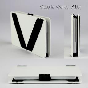 Victoria Wallet - ALU // WHITE