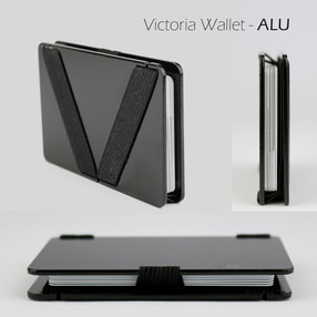 Victoria Wallet - ALU // BLACK