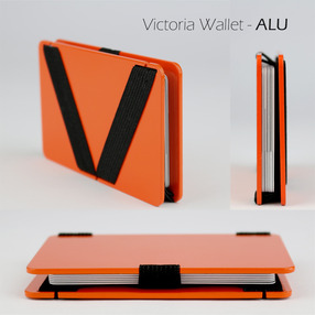 Victoria Wallet -ALU // ORANGE