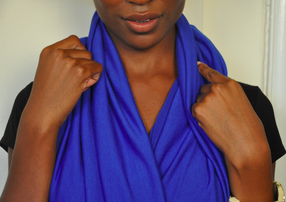 Royal Blue Infinity Scarf