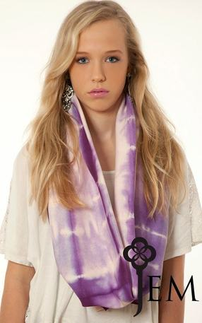 Baby Pink & Purple Tie Dyed