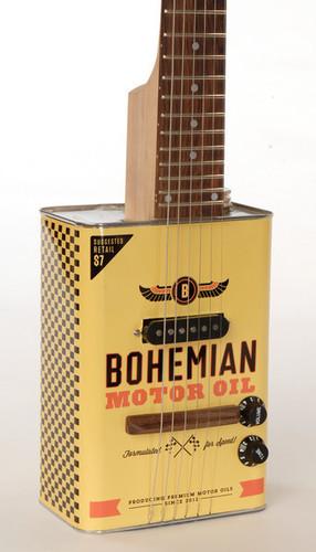 Bohemian Motor Oil Guitar
