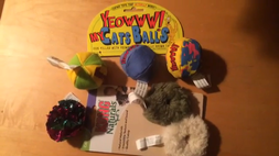 Cat Toys Four Balls and Catnip Fuzzies