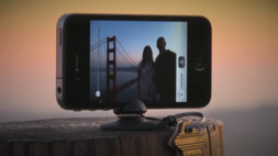 "iPhone 5 tiltable keychain-sized pocket ""tripod"""