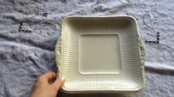Wedgwood Edme Square White Plate Marked